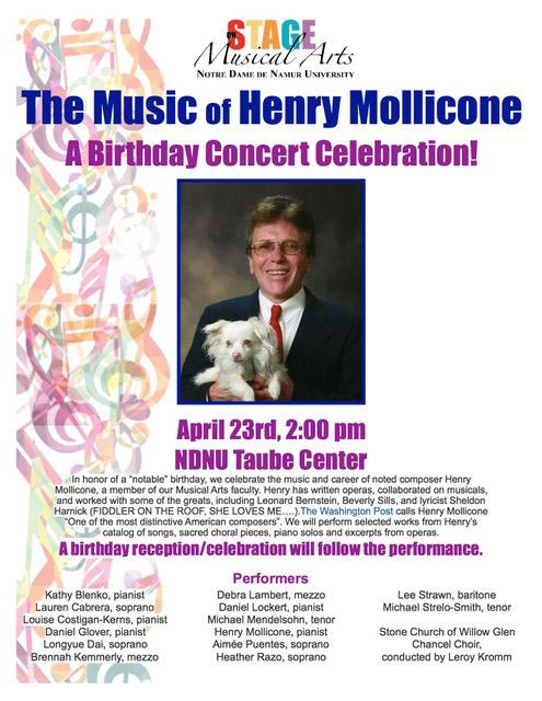 Henry Mollicone Birthday Concert